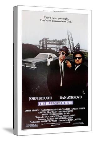 THE BLUES BROTHERS, 1980 directed by JOHN LANDIS John Belushi and Dan Aykroyd (photo)--Stretched Canvas Print