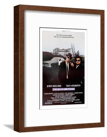 THE BLUES BROTHERS, 1980 directed by JOHN LANDIS John Belushi and Dan Aykroyd (photo)--Framed Photo