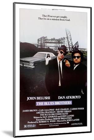 THE BLUES BROTHERS, 1980 directed by JOHN LANDIS John Belushi and Dan Aykroyd (photo)--Mounted Photo