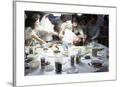 Alien, 1979 directed by Ridley Scott with Sigourney Weaver, Yaphet Kotto, John Hurt, Tom Skerritt a--Framed Photo