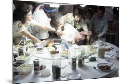 Alien, 1979 directed by Ridley Scott with Sigourney Weaver, Yaphet Kotto, John Hurt, Tom Skerritt a--Mounted Photo