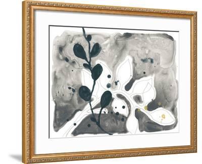 Navy Garden Inspiration V-June Vess-Framed Art Print