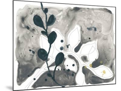 Navy Garden Inspiration V-June Vess-Mounted Art Print