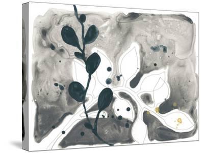 Navy Garden Inspiration V-June Vess-Stretched Canvas Print