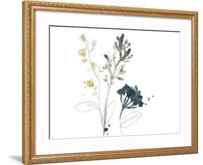Navy Garden Inspiration I-June Vess-Framed Art Print