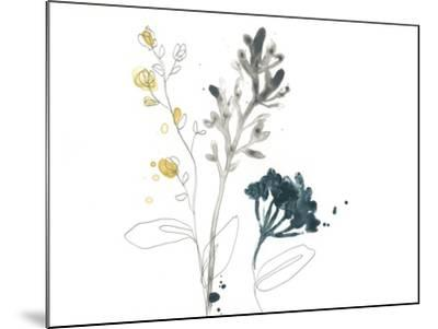 Navy Garden Inspiration I-June Vess-Mounted Art Print