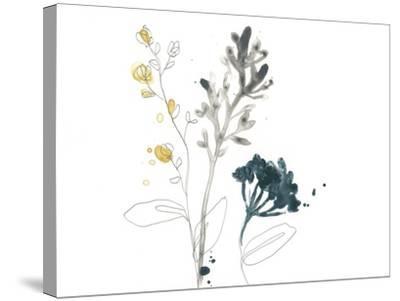 Navy Garden Inspiration I-June Vess-Stretched Canvas Print