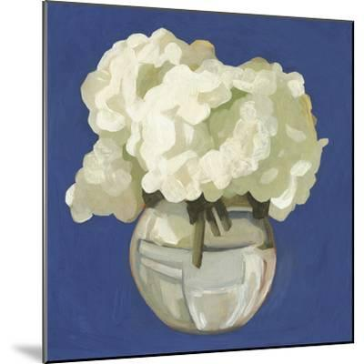 White Hydrangeas I-Emma Scarvey-Mounted Art Print