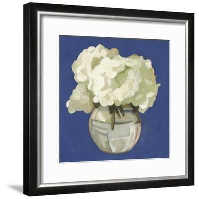White Hydrangeas I-Emma Scarvey-Framed Art Print