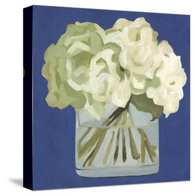 White Hydrangeas II-Emma Scarvey-Stretched Canvas Print
