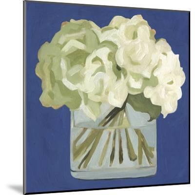 White Hydrangeas II-Emma Scarvey-Mounted Art Print