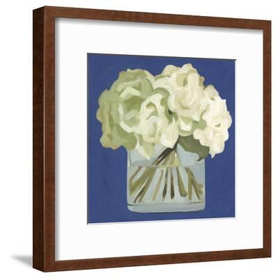 White Hydrangeas II-Emma Scarvey-Framed Art Print