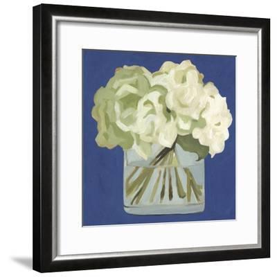 White Hydrangeas II-Emma Scarvey-Framed Premium Giclee Print