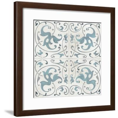 Teal Tile Collection VIII-June Vess-Framed Art Print