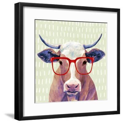 Bespectacled Bovine I-Victoria Borges-Framed Premium Giclee Print