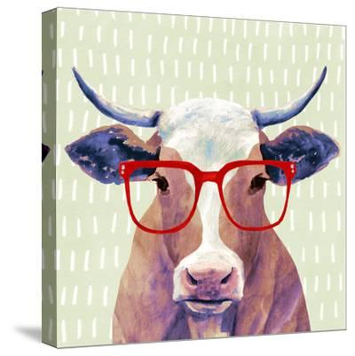 Bespectacled Bovine I-Victoria Borges-Stretched Canvas Print