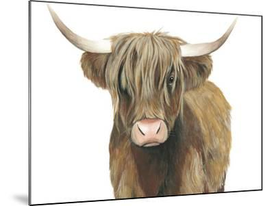 Highland Cattle II-Grace Popp-Mounted Art Print