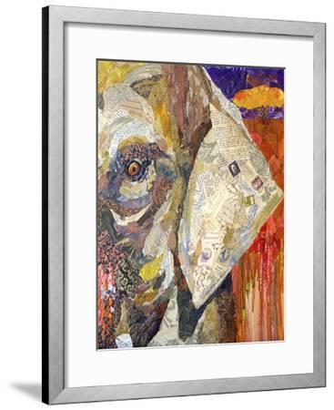 Africa on Collage I-Elizabeth St. Hilaire-Framed Art Print