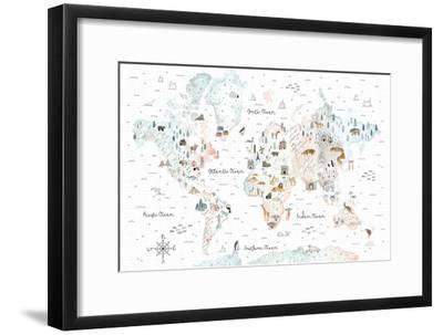 World Traveler I-Laura Marshall-Framed Art Print