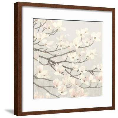 Dogwood Blossoms II Gray-James Wiens-Framed Art Print
