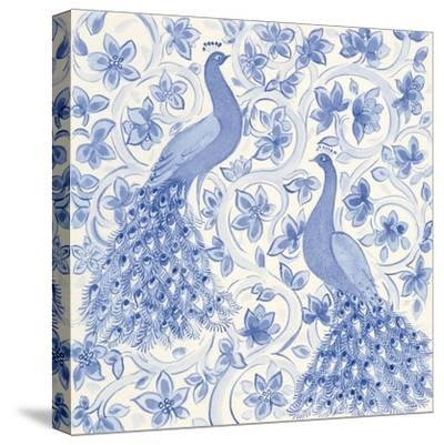 Peacock Garden II-Miranda Thomas-Stretched Canvas Print