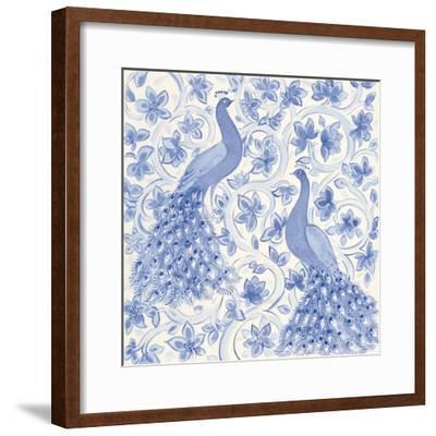 Peacock Garden II-Miranda Thomas-Framed Art Print