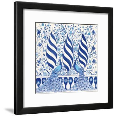 Peacock Garden V-Miranda Thomas-Framed Art Print