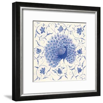 Peacock Garden I-Miranda Thomas-Framed Art Print