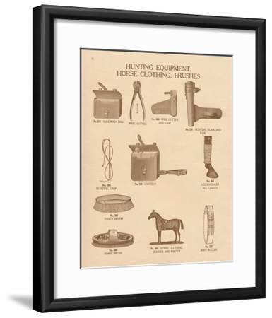 Equine Riding Gear IV-Wild Apple Portfolio-Framed Art Print