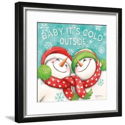 Let it Snow VI Eyes Open-Mary Urban-Framed Art Print