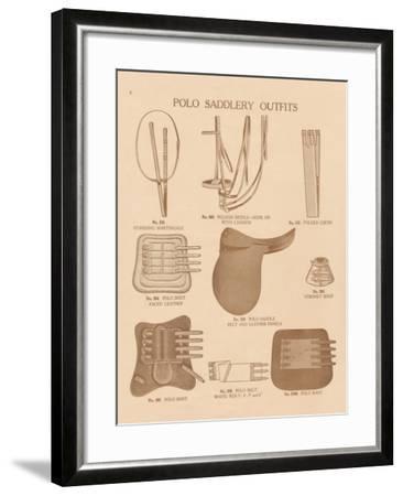 Equine Riding Gear II v2-Wild Apple Portfolio-Framed Art Print