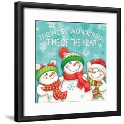 Let it Snow VII Eyes Open-Mary Urban-Framed Art Print