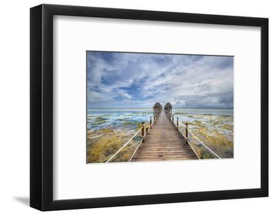 Zanzibar Pier-Marco Carmassi-Framed Photographic Print