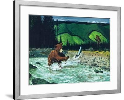 Catching Salmon-Bruce Bontrager-Framed Giclee Print