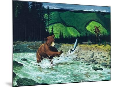 Catching Salmon-Bruce Bontrager-Mounted Giclee Print