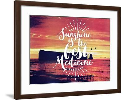 Sunshine Is The Best Medicine-The Saturday Evening Post-Framed Giclee Print