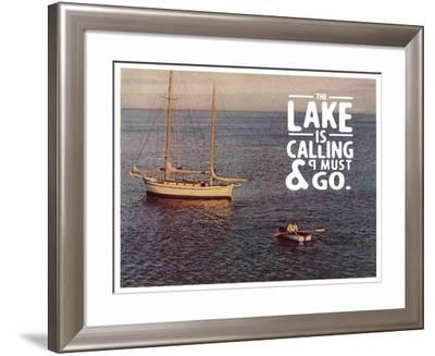 The Lake Is Calling-The Saturday Evening Post-Framed Giclee Print