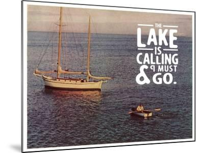 The Lake Is Calling-The Saturday Evening Post-Mounted Giclee Print