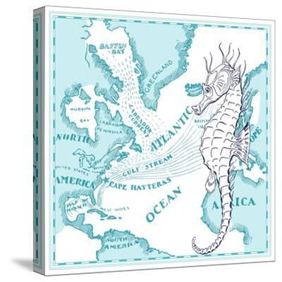 Seahorse-The Saturday Evening Post-Stretched Canvas Print