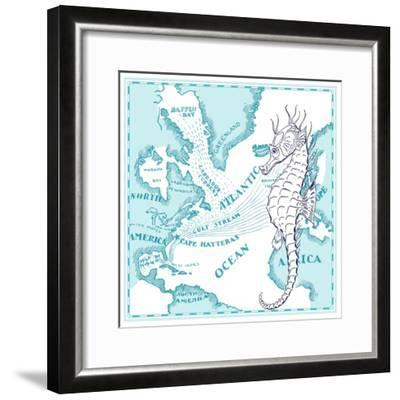 Seahorse-The Saturday Evening Post-Framed Giclee Print
