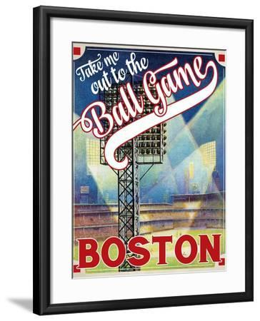 Travel Poster - Boston-The Saturday Evening Post-Framed Giclee Print