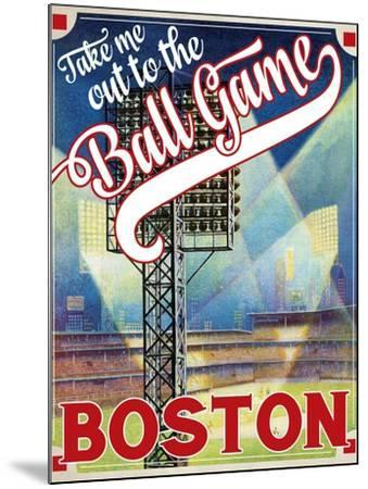 Travel Poster - Boston-The Saturday Evening Post-Mounted Giclee Print