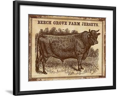 Cow - Jerseys 2-The Saturday Evening Post-Framed Giclee Print
