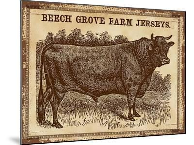 Cow - Jerseys 2-The Saturday Evening Post-Mounted Giclee Print