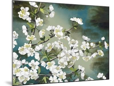 Floral - Copper-The Saturday Evening Post-Mounted Giclee Print
