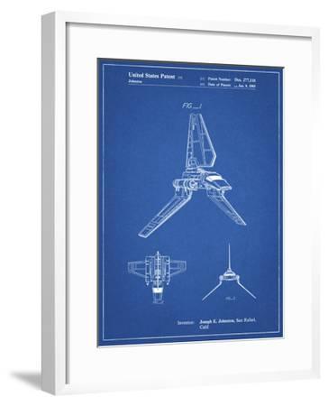 PP449-Blueprint Star Wars Lambda Class T-4a Shuttle Patent Poster-Cole Borders-Framed Giclee Print