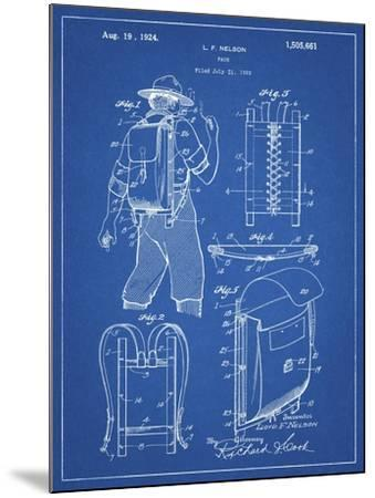 PP342-Blueprint Trapper Nelson Backpack 1924 Patent Poster-Cole Borders-Mounted Giclee Print
