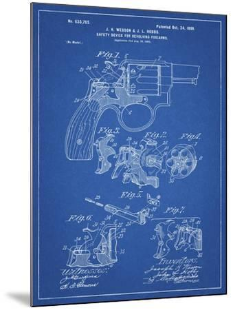 PP375-Blueprint Smith and Wesson Hammerless Pistol 1898 Patent Poster  Giclee Print by Cole Borders | Art com