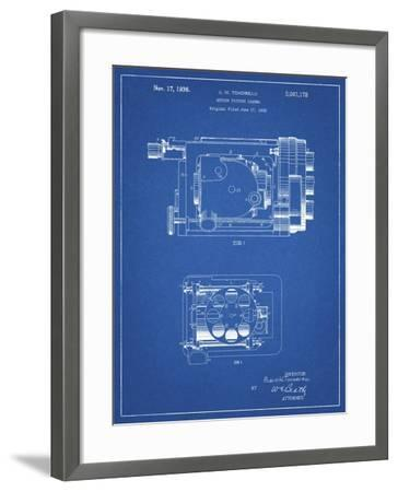 PP390-Blueprint Motion Picture Camera 1932 Patent Poster-Cole Borders-Framed Giclee Print