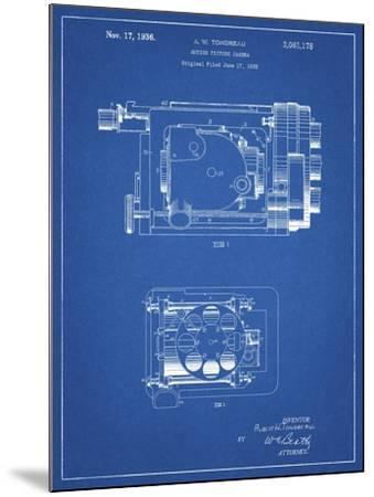 PP390-Blueprint Motion Picture Camera 1932 Patent Poster-Cole Borders-Mounted Giclee Print